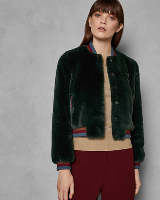 Ted Baker AETHER Faux fur bomber jacket