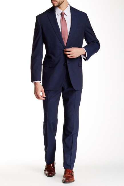 Brooks Brothers  Brooks Brothers Classic Fit Blue Pinstripe Two Button Notch Lapel Suit