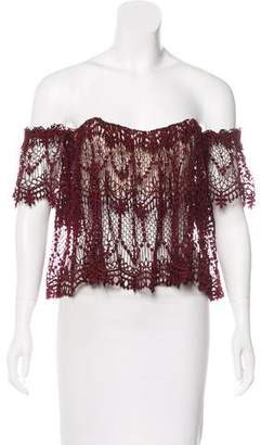Stone_Cold_Fox Stone Cold Fox Off-The Shoulder Guipure Lace Top