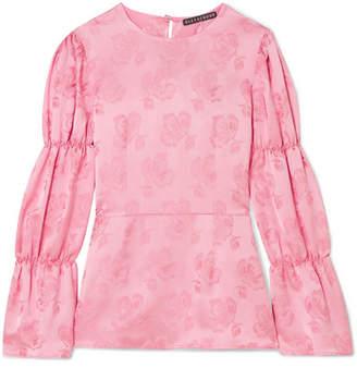 ALEXACHUNG Floral-jacquard Blouse - Bubblegum