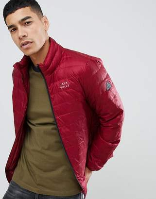 Jack Wills Nevis lightweight synthetic down puffer jacket in red