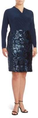 Marina Sequin Wrap Dress