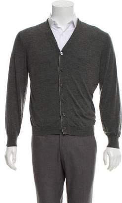 Brunello Cucinelli Wool-Cashmere V-Neck Cardigan