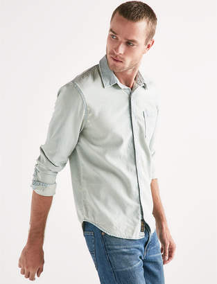 Lucky Brand ONE POCKET LONG SLEEVE CHAMBRAY SHIRT