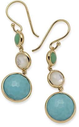 Ippolita 18k Lollipop Three-Stone Drop Earrings in Pacific O4k4BjKq