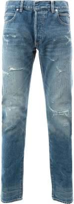 Balmain destroyed stone washed jeans