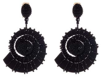 Oscar de la Renta Beaded Seashell Earrings