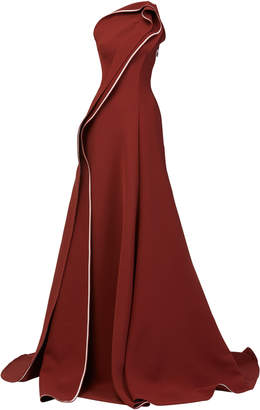Maticevski Amorous Draped One-Shoulder Gown