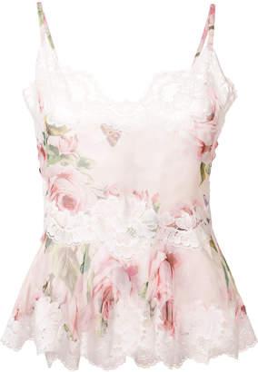 Dolce & Gabbana lace trim floral shorts