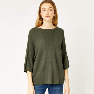 Warehouse Rib Panel Knitted Top
