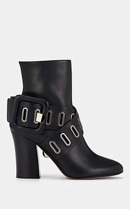 SAMUELE FAILLI Women's Buckle-Strap Leather Ankle Boots - Black