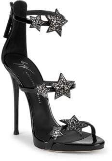 Giuseppe Zanotti Coline Crystal Embellished Leather Sandals