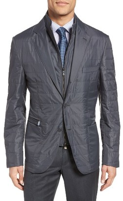 Men's Corneliani Id Classic Fit Quilted Jacket $1,295 thestylecure.com