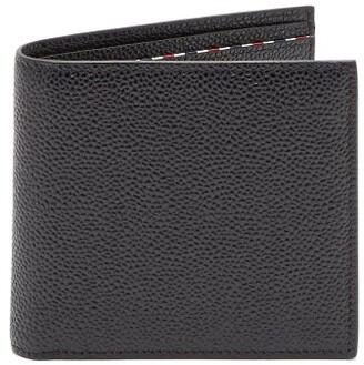 Thom Browne - Bi Fold Pebbled Leather Cardholder - Mens - Black