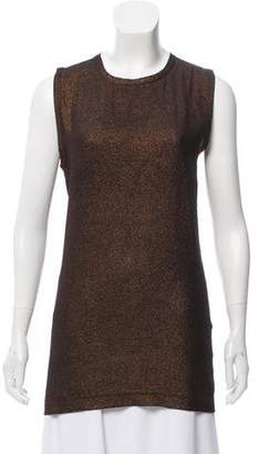 Dolce & Gabbana Sleeveless Metallic Top