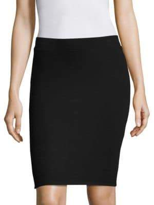 ATM Anthony Thomas Melillo Solid Fitted Skirt