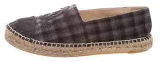 Chanel Plaid CC Wool Espadrilles