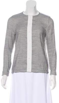 J Brand Striped Button-Up Top