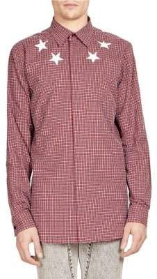 Givenchy Plaid Shirt With Stars