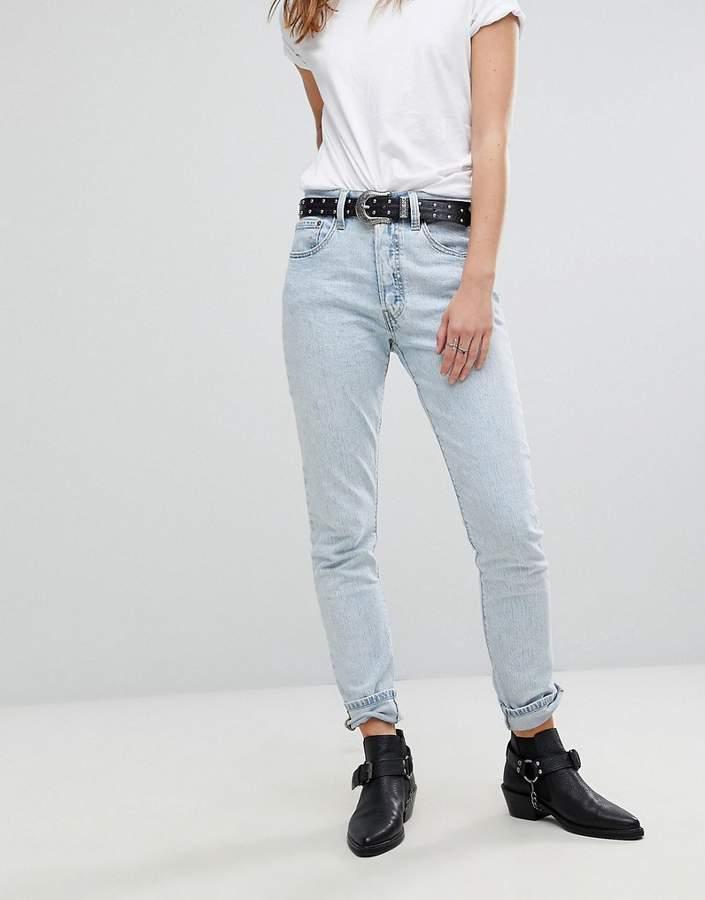 Levis – 501 – Skinny-Jeans mit hohem Bund
