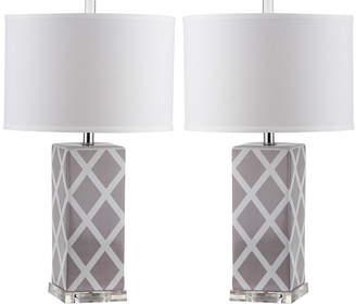 Safavieh Ira Garden Lattice Table Lamp- Set of 2