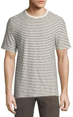 Vince Men's Reverse Striped Pima Crewneck T-Shirt