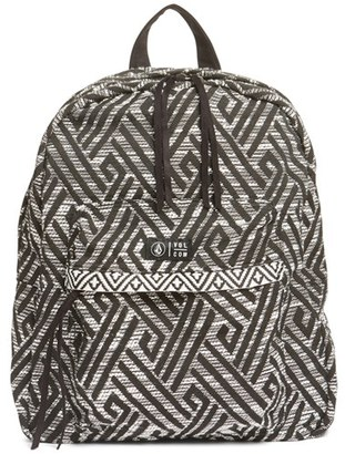 Volcom Outta Towner Backpack - Black $50 thestylecure.com