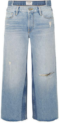 Frame Le Reconstructed Distressed Mid-rise Straight-leg Jeans