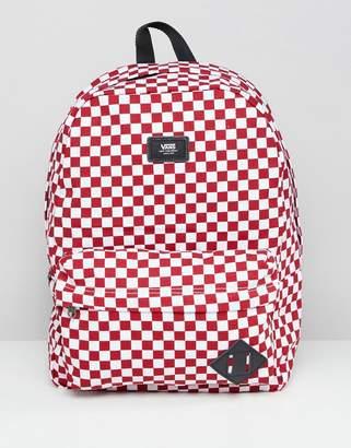 Vans (バンズ) - Vans Red Checkerboard Backpack