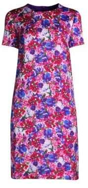 Escada Women's Divisu Floral Print Shift Dress - Size 32 (2)