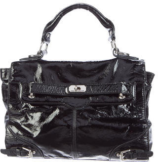 Rebecca Minkoff Jane Vernice Leather Satchel $130 thestylecure.com