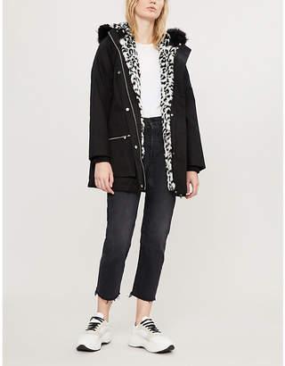 Claudie Pierlot Faux fur-trimmed cotton parka coat