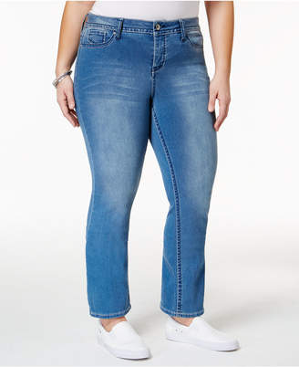 Hydraulic Plus Size Emma Blue Wash Straight Leg Jeans