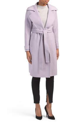 Petite Wool Chloe Double Faced Wrap Coat