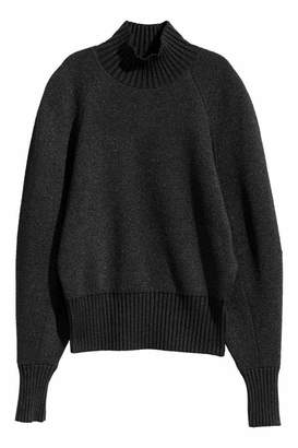 H&M Knit Turtleneck Sweater - Black - Women