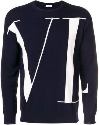 Valentino logo patterned sweatshirt
