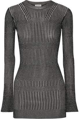 By Malene Birger Aliasi Metallic Ribbed-Knit Sweater