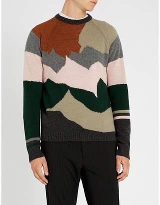 Lanvin Landscape-intarsia wool and cashmere-blend jumper