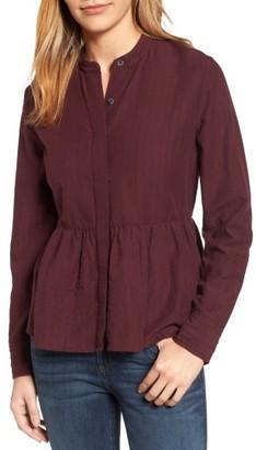 Women's Caslon Peplum Shirt $59 thestylecure.com