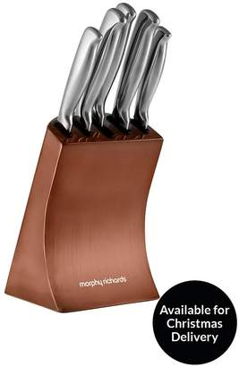 Morphy Richards Accents 5-piece Knife Block Set In Copper