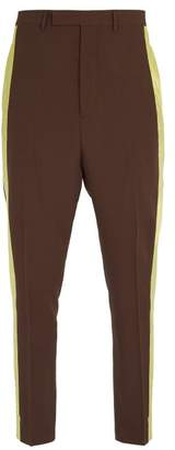 Rick Owens Astaires Cropped Tailored Trousers - Mens - Brown Multi