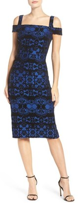 Women's Eci Flocked Midi Dress $88 thestylecure.com