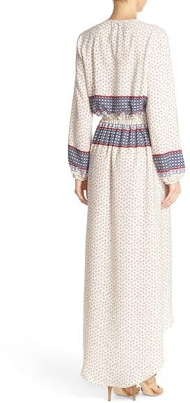 Women's Fraiche By J Print Wrap Maxi Dress 3