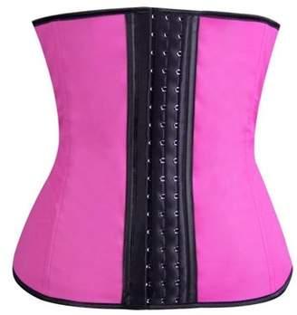Homax Women's Waist Tummy Breathable Body Shapewear Belt Corset Cincher Waist Trimmer - Pink