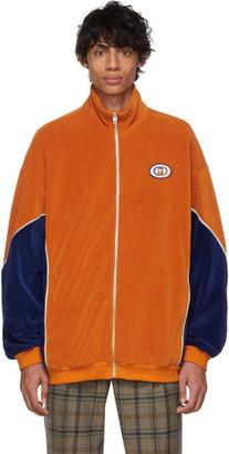 Gucci Orange and Blue Velvet Jacket