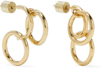 Jennifer Fisher Triple Hoops Gold Plated Earrings One Size
