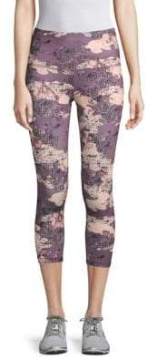 Reebok Floral High-Rise Capri Leggings