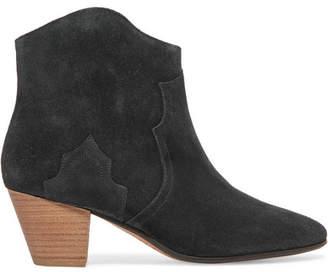 Isabel Marant - étoile Dicker Suede Ankle Boots - Black $560 thestylecure.com