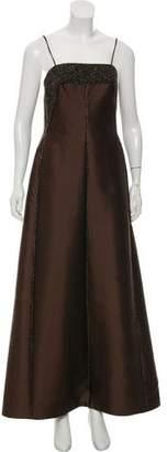 Morley Helen Satin Embellished Gown w/ Shawl