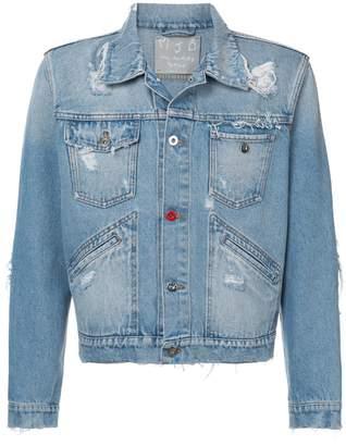Mjb distressed cropped denim jacket